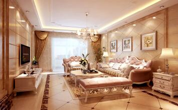 富河园3室2厅120平米欧式风格