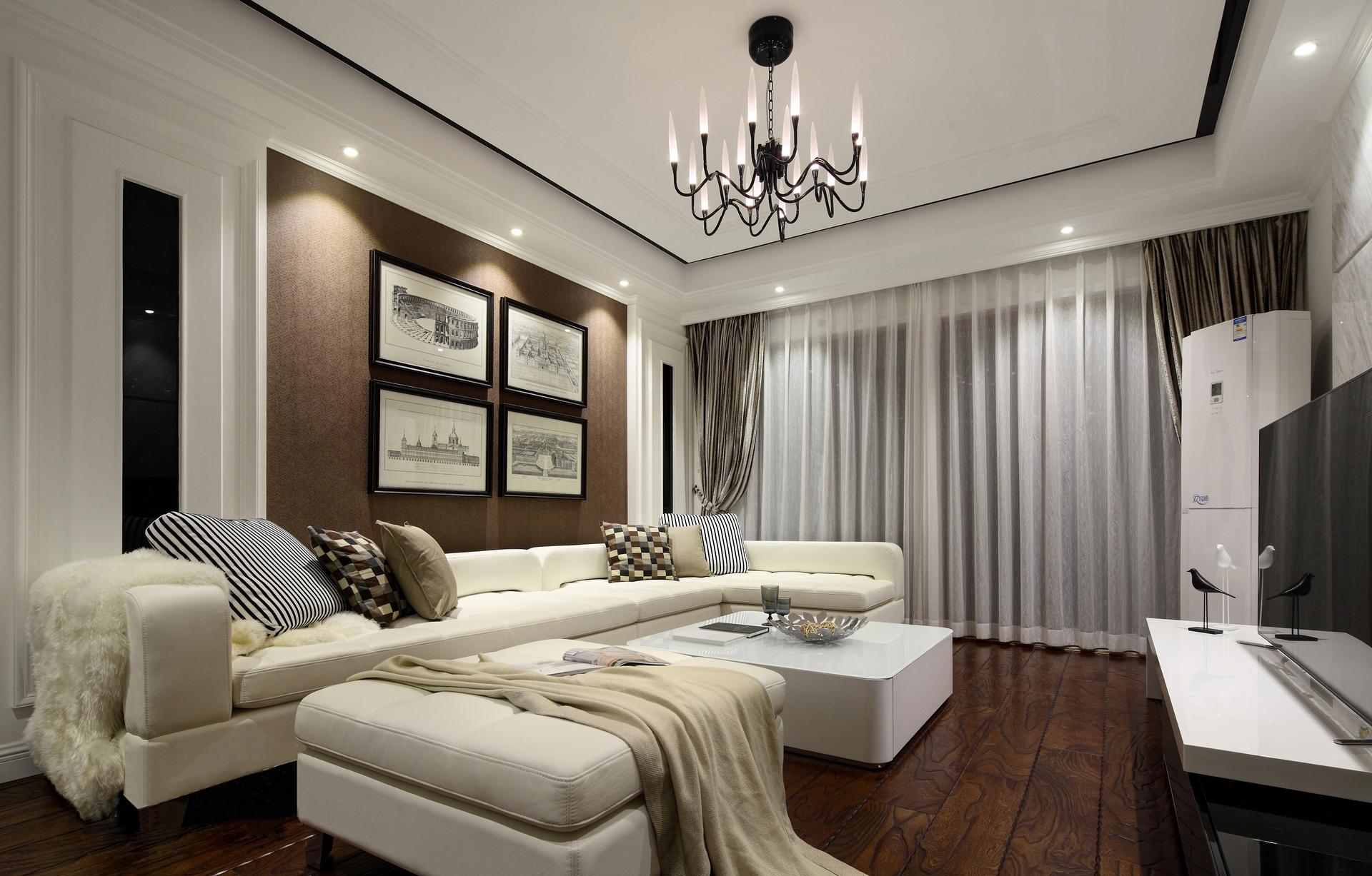 盛世桃园3室2厅131平米混搭风格