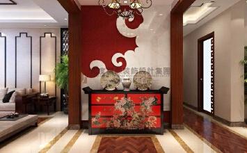 杭州高度国际/龙湖春江彼岸198平方新中式风格