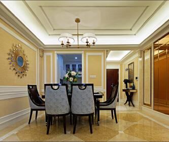 北京臻园三居室新古典...