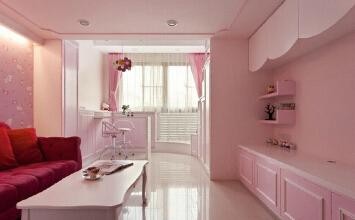 Hello Kitty主题的粉色单身公寓