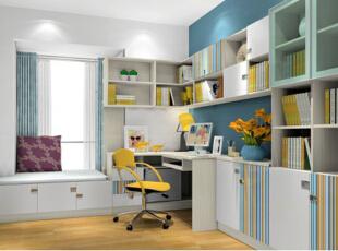 书柜和电脑桌何如搭?合二为一更适用!