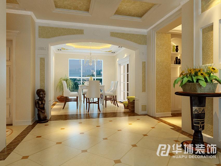 正弘澜庭叙-128平米三居欧式风格-谷居家居装修设计