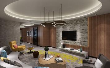 保利达江湾城193平方现代时尚设计案例