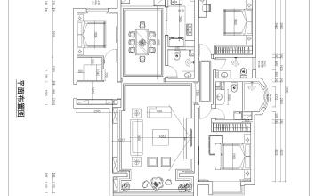 天阳御龙湾装修-180平三室-中欧混搭风格案例