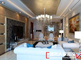 中海紫御公馆140平米后现代风格装修案例