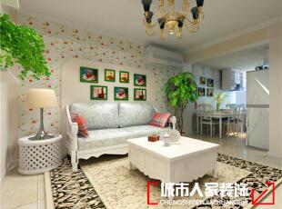 上海滩花园80平米田园风格装修案例
