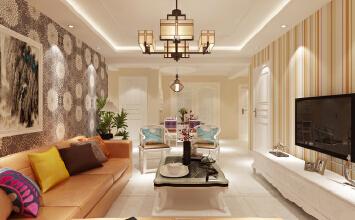 启锐园装修104平-三室两厅-现代简约风格案例