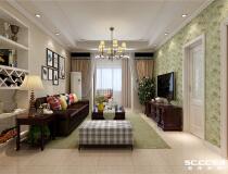 利达国宾中心90平三居室美式风格装修设计方案