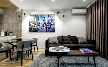 迷人高级灰,优雅的小公寓装修设计