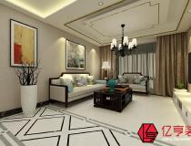 【亿亨装饰】林荫大院二室两厅85平新中式风格装修效果图