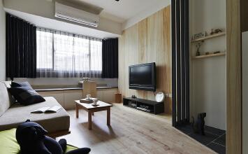 光华苑一室一厅52平半包装修简约风格