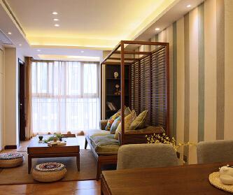 二居室东南亚风格装修设计...