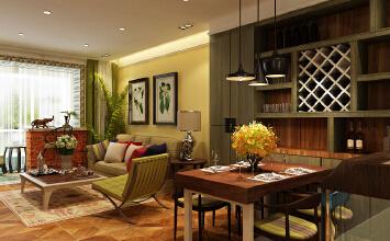 瀚唐小区90平两室混搭风格装修设计作品