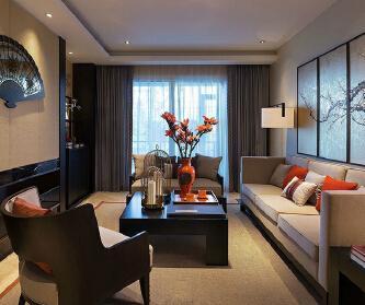 三居室新中式风格装修设计...