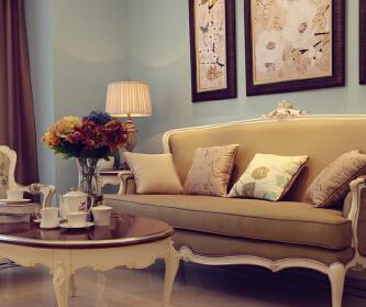 90平优雅美式风格三居室...
