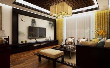 济南东城逸家新中式风格家庭装修设计