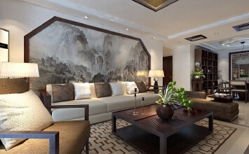 中式丨瀚唐20-21号楼标准层135平中式设计