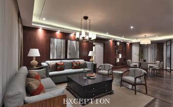 新中式风格之秀逸璞居东海花园豪宅软装设计