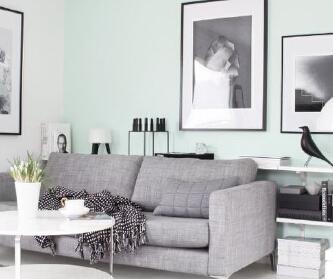 灰色和淡绿色的结合