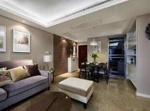 万打造平现代简约公寓让爸妈住得安心舒适