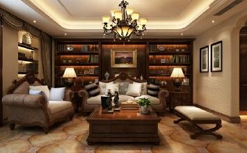 【乐豪斯装饰】蓝山印象148㎡三居室美式古典装修设计案例