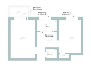 【久栖设计】北京良乡拱辰星园50㎡旧房改造