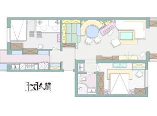 【久栖设计】北京天通苑 繁花寄语