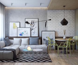一室两厅简约北欧风格