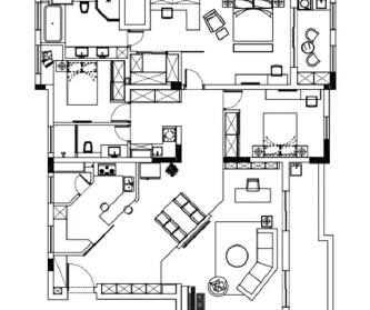 146平时尚三居室