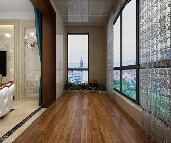 红珊湾混搭风格装修三居室