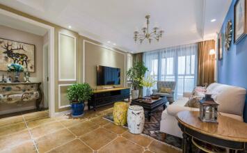 瀚唐小区美式风格180平四居室样板间