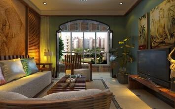 太原市绿地卢浮公馆东南亚风格作品鉴赏