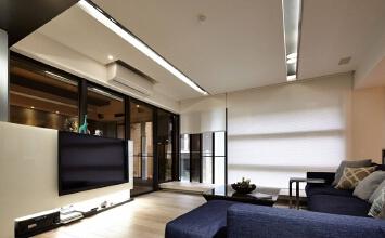 231方现代简约二居,将冷硬与温润的主题融合于空间中