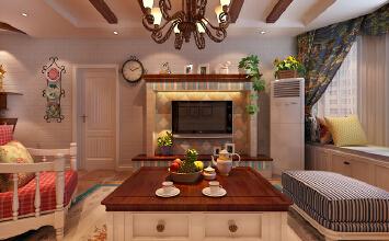 家设计丨翡翠明珠108平米田园风格签约方案展示(设计师于琪)