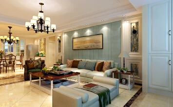 济南东城逸家美式风格装修设计