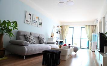 天杰徐汇2室2厅85平米混搭风格