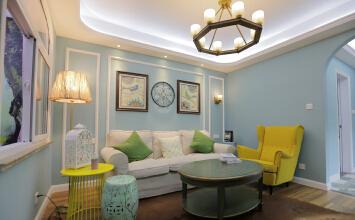 卢湾滨江南园3室2厅90平米美式风格