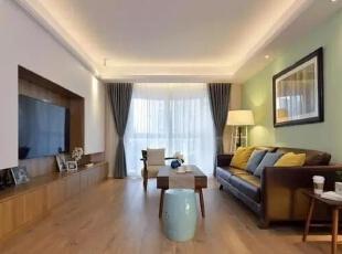▲简洁的家具配饰,整个空间拥有轻松的慵懒氛围,客厅,