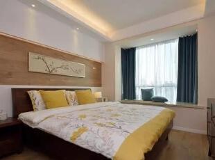 ▲在色彩上和整体风格呼应,灯光的搭配柔和精致 ,卧室,