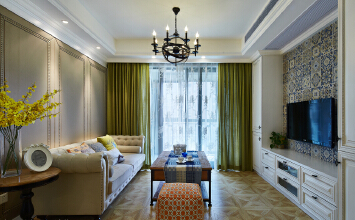 凯迪迪美逊3室2厅100平米美式风格