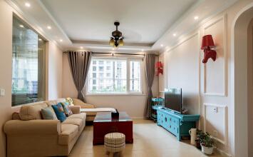 华玉苑2室2厅90平米混搭风格