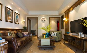 宝华北岸郡庭3室2厅90平米美式风格