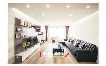 银川香树花城三室两厅120平米简约装修实景图