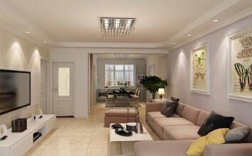 碧桂园三室两厅现代简约效果图