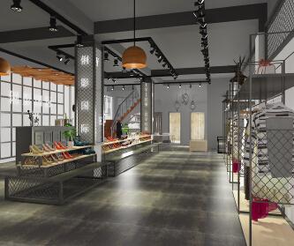 复古工业风女装店