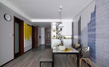 格林玫瑰湾118平三室现代简约风样板间装修设计