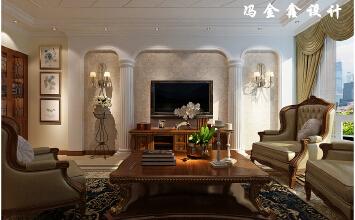 凯景广场3室2厅157平米美式风格