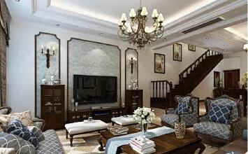鲁商蓝岸新城6室3厅300平米美式风格
