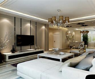 153平后现代婚房设计